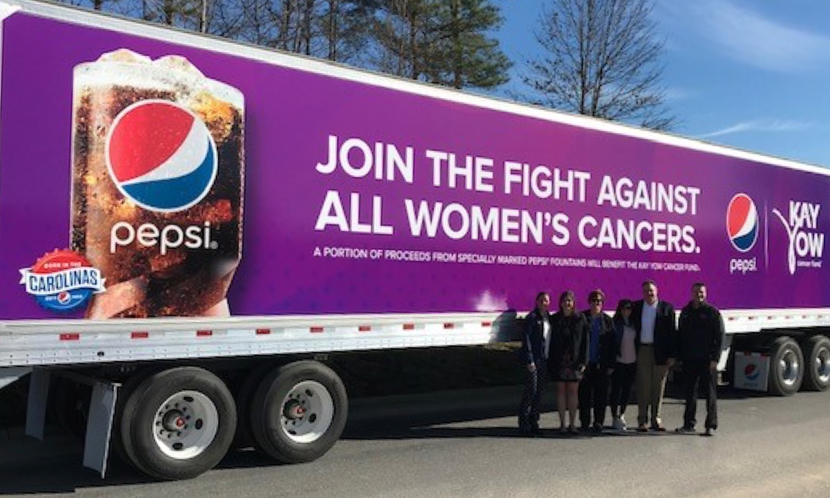 Pepsi Bottling Venture & Kay Yow Branded Deliver Truck Designed to Support Fight Against Women's Cancers