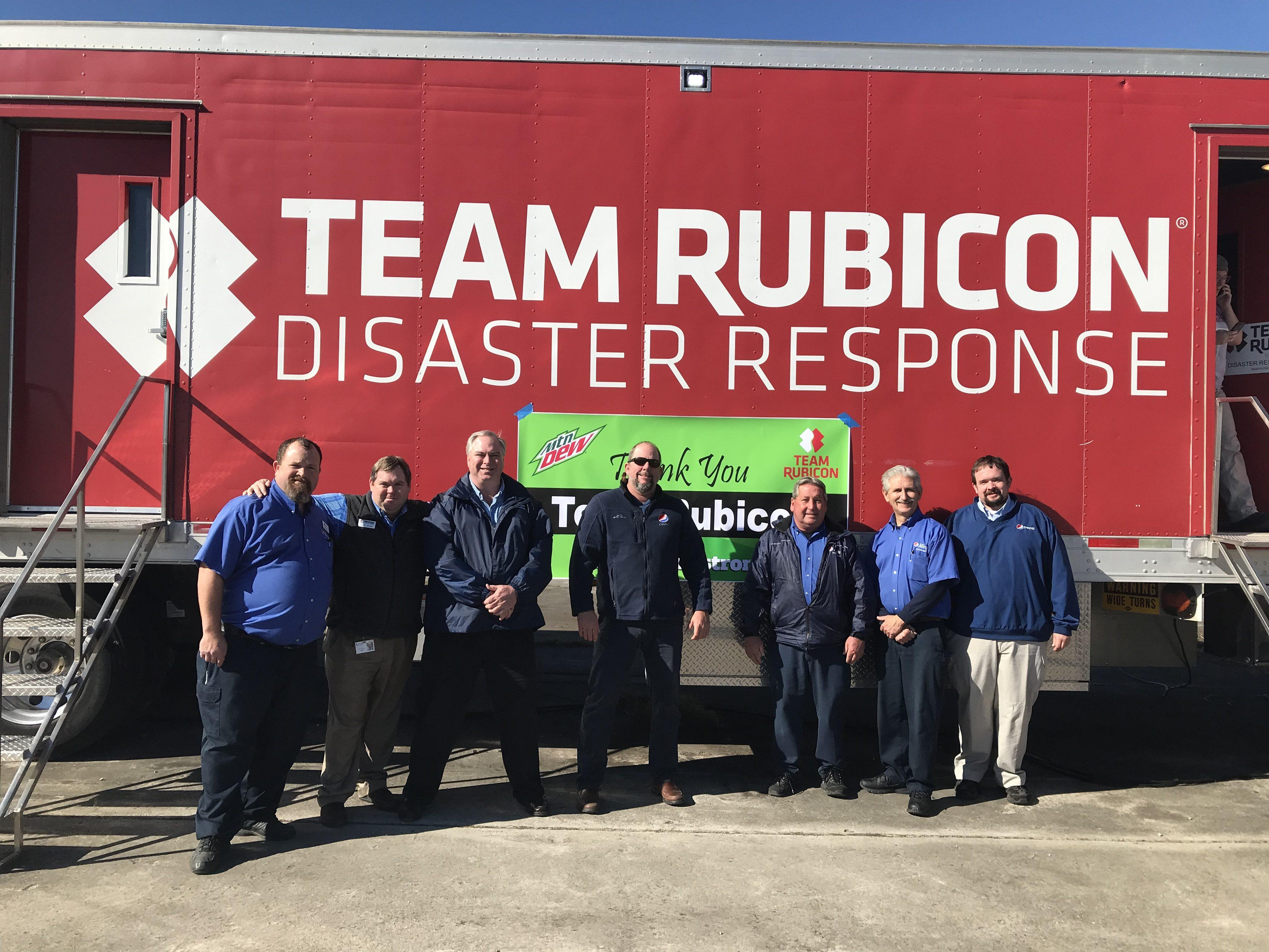 Pepsi Volunteers Honor Team Rubicon for Their Hurricane Disaster Relief Help in New Bern, NC