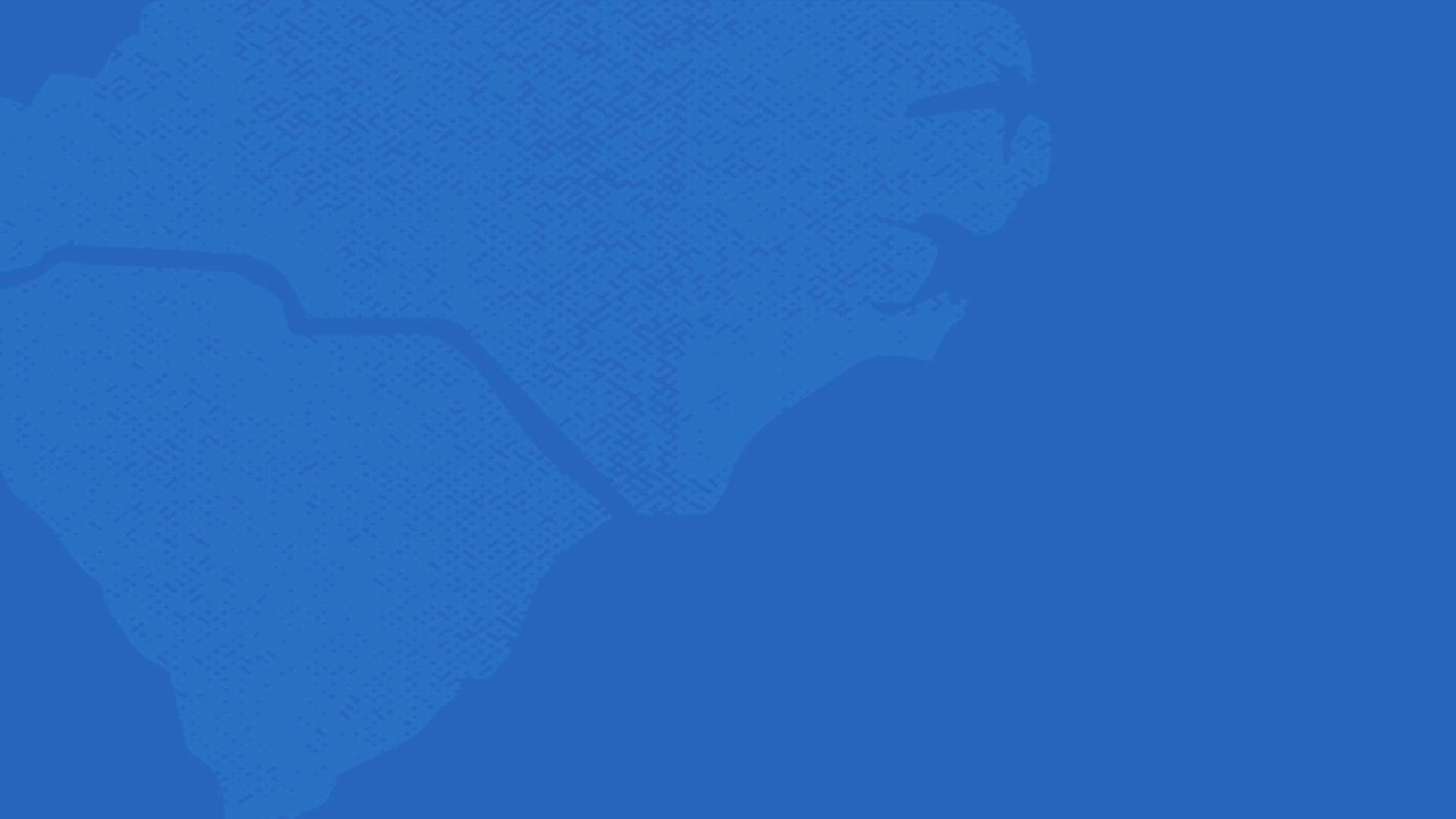 Blue Outline of North and South Carolina